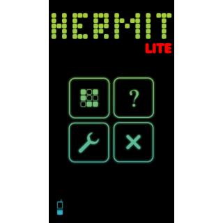 Hermit Lite game main menu