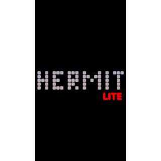 Hermit Lite title screen
